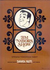 "'72 RARE ""JIM NABORS SHOW AT THE SAHARA HOTEL IN LAS VEGAS"" PR AD"