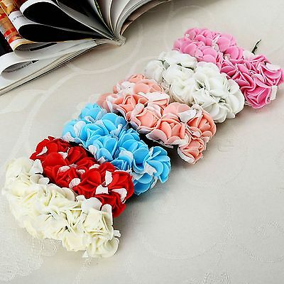 12/144Pcs Artificial Fake PE Rose Flowers Wedding Party Home Floral Decorations