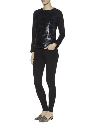 Sweater Camouflage Bethh Women's Black Sequin Gorgeous Ted Baker Size 0 ZqUF6R