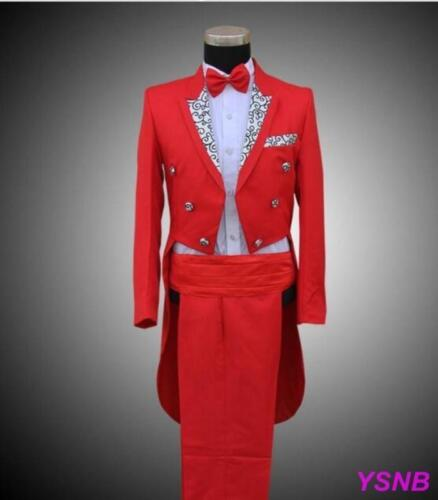 new Mens Formal Wedding Tuxedo Jackets Tail Coats Trouse Party SUIT/&PANTS