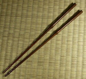 Copper-Hibashi-Hibachi-Chopsticks-Japanese-Vintage