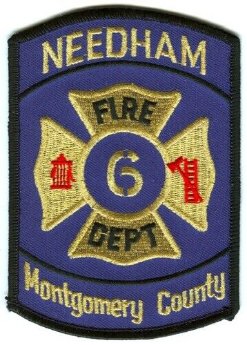Needham Fire Department Dept FD 6 Montgomery County Patch Texas TX SKU140