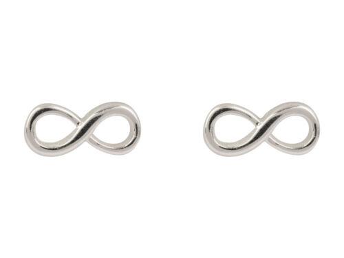 Nuevo Par De De Zarcillos De Plata Esterlina símbolo de infinito