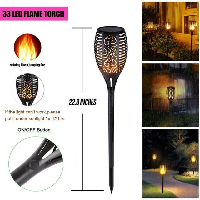 4P Pathway Color Changing Led Solar Powered Lawn Light Diamond Garden Stake Lamp