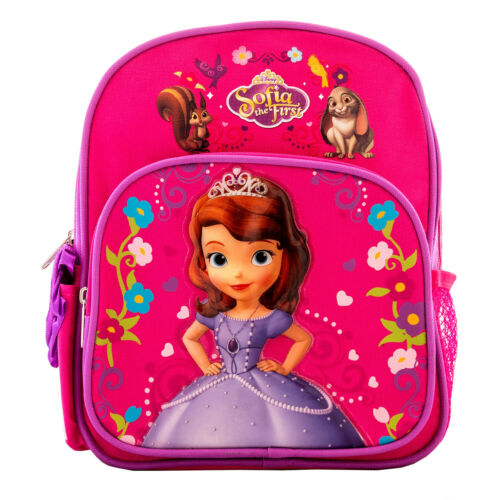 "Disney Princess Sofia the First Backpack 10/"" Girls School Book Travel Fun Bag"