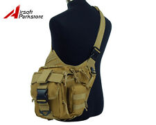 Tactical Military Molle Utility Shoulder Backpack Bag Pouch Camping Hiking Tan