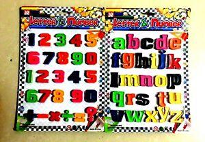 Agressif Magnétique Lettres & Numéros Jeux éducatifs Jouet Facile Apprendre Alphabet & Chiffres-afficher Le Titre D'origine