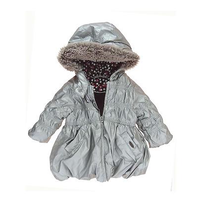 Marèse manteau avec capuche gris argenté bébé fille 6 mois. | eBay