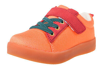 LITTLE BLUE LAMB Schuhe Halbschuhe Sneaker 7120 Canvas & Leder orange NEU