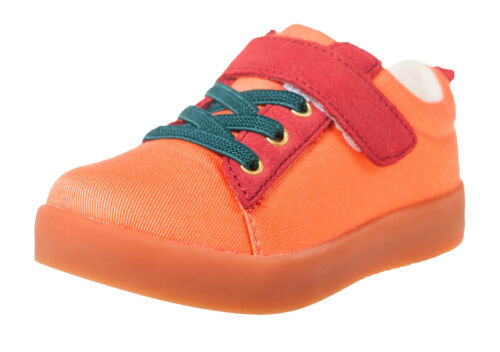 Little Blue Lamb Chaussures Basses Baskets 7120 toile /& cuir orange neuf