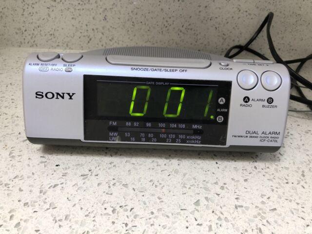 Retro Sony Icf C470l Dream Machine, Retro Radio Alarm Clock