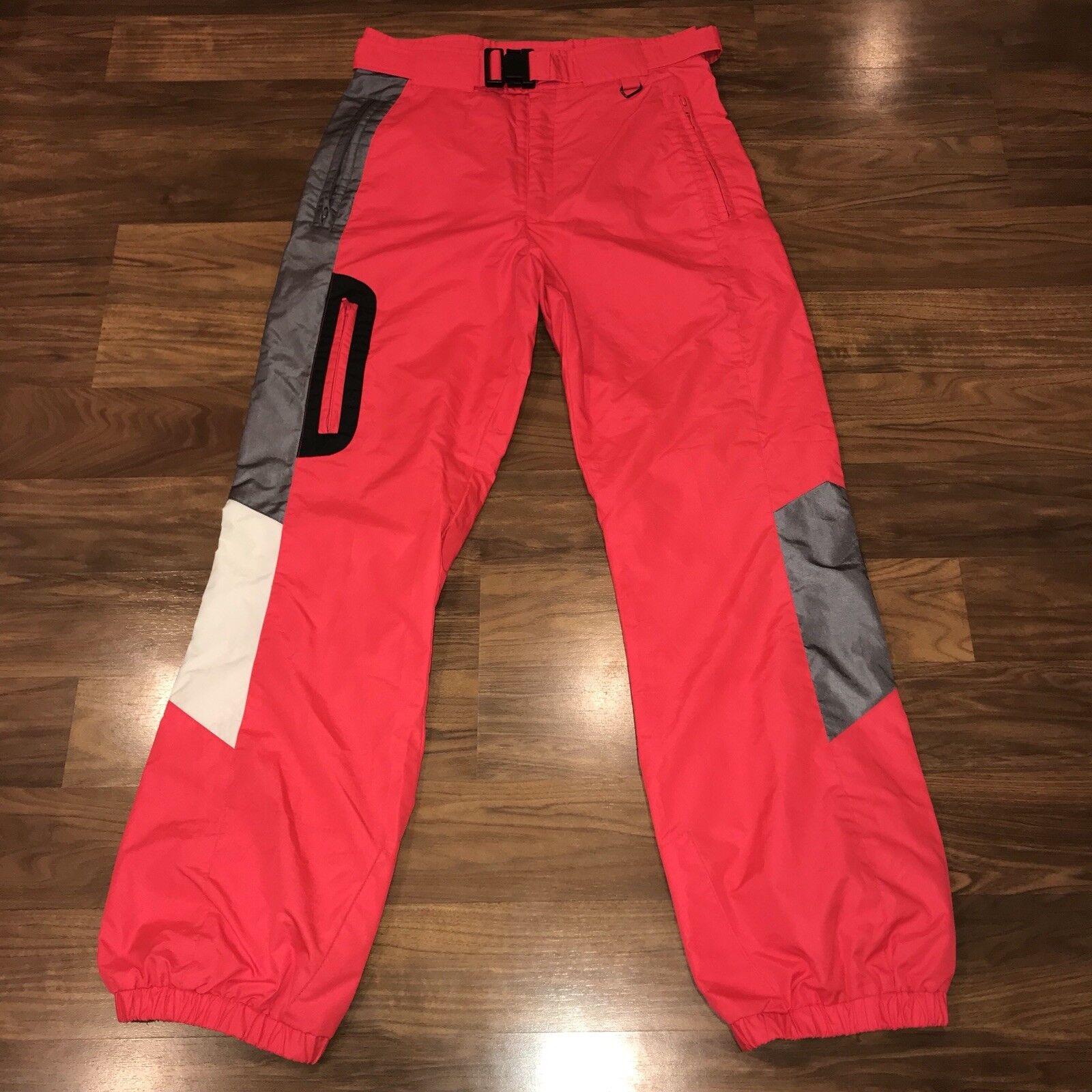 Vtg 80s 90s Infrared Neon  OBERMEYER Ski Pants Mens MEDIUM Snow bib suit Gaper M  outlet factory shop