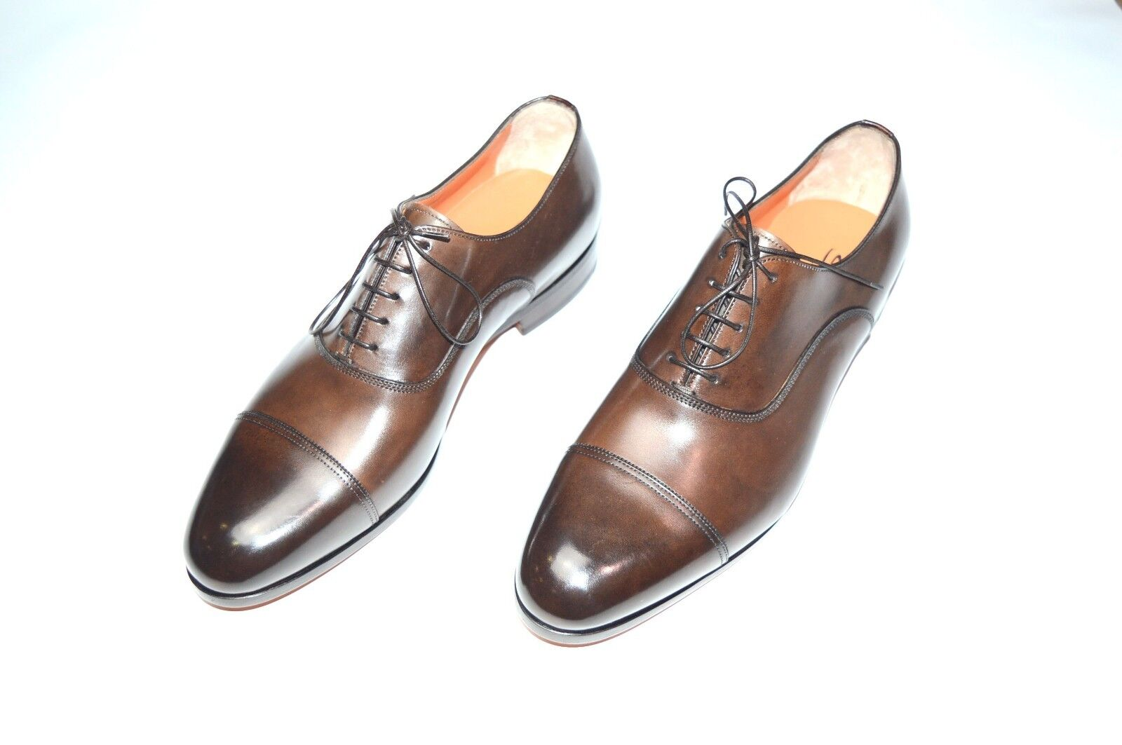 NEW SANTONI Dress Leather shoes  SIZE Eu 44.5 Uk 10.5 Us 11.5 (20R)