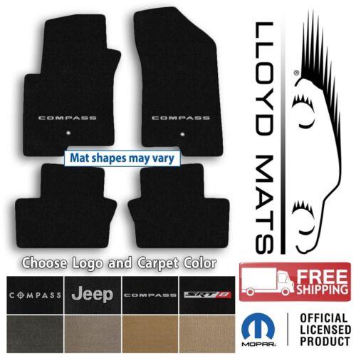 Jeep Compass Choose Color /& Logo 4pc Ultimats Carpet Floor Mat Set