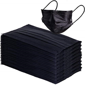 disposal face mask black