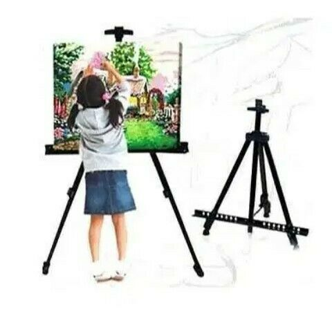 New! Painting Easel -Folding Art Stand- Aluminum Telescopic Tripod Art Display stand (Max height 160