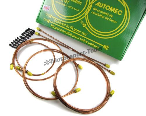 Automec Copper Brake Pipe Set Kit Jensen CV8 Mk3