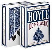 1 Deck Hoyle 100% Plastic Standard Poker Playing Cards Blue Brand Deck