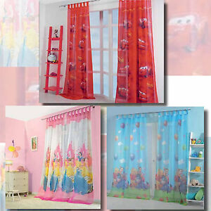 Kinderzimmer gardinen vorhang set winnie the pooh cars princess 2 schals ebay - Kinderzimmer vorhang junge ...