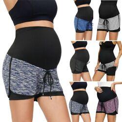 Weich Kurze Hose Kleidung Sommer Frauen Mutterschaft Over-the-Belly Yoga