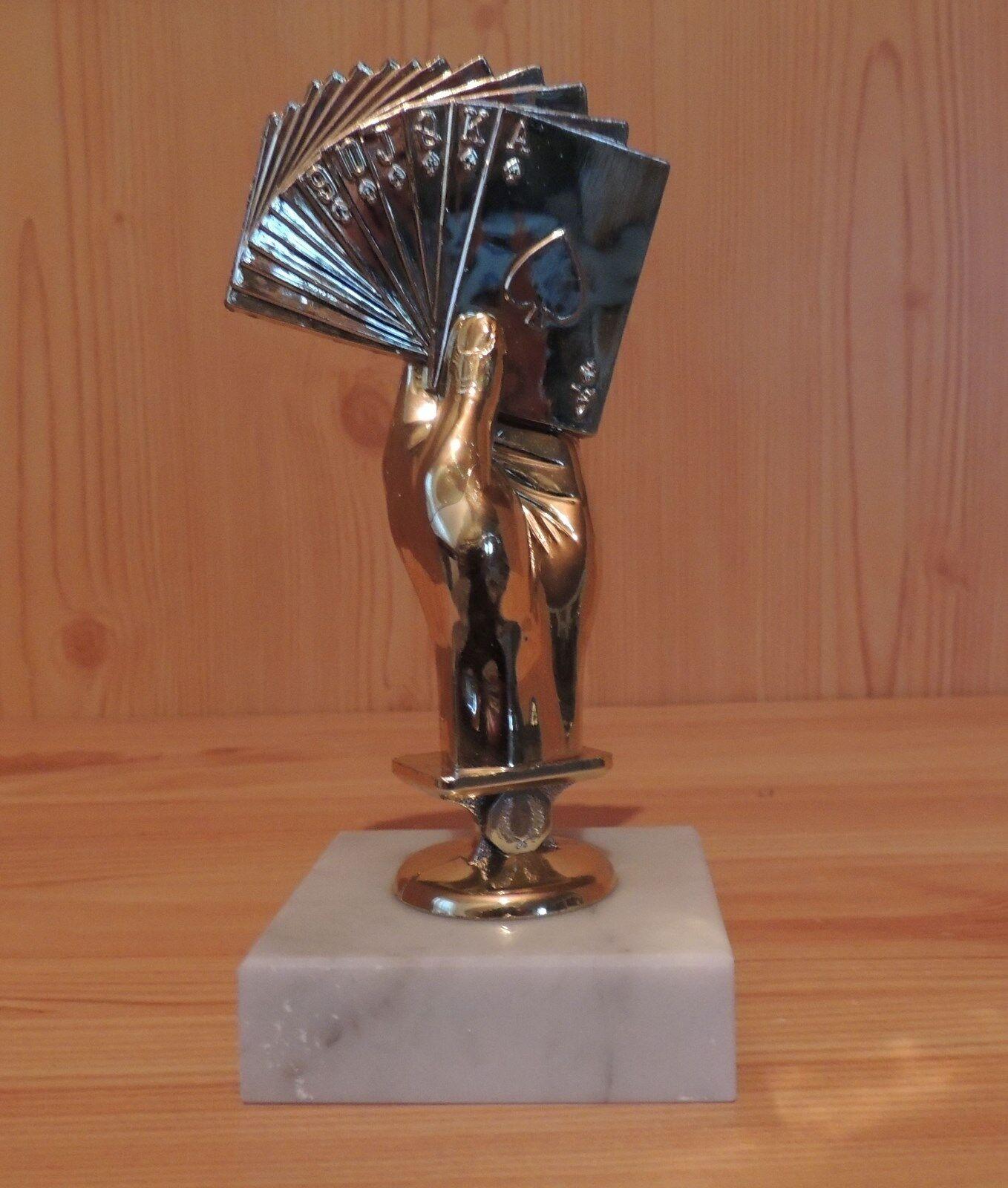 10 Figuren Figuren Figuren Bridge 14cm mit Marmor Kartenspiele Romee usw. Selbstmontage (Pokale) 3c4cf7