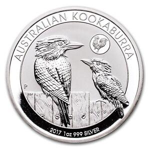 2017 P Australian Kookaburra 1 Oz 999 Silver Round