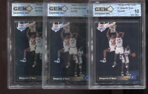 (3) Count Lot Shaquille O'Neal RC 1992-93 Upper Deck #1 Rookie GEM Elite 10
