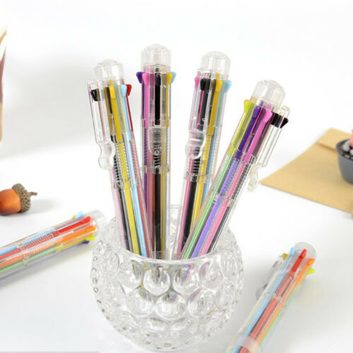 Multi-Color8 In 1Color Ballpoint Pen Ball Point Pens Kids School Office SupYEGD