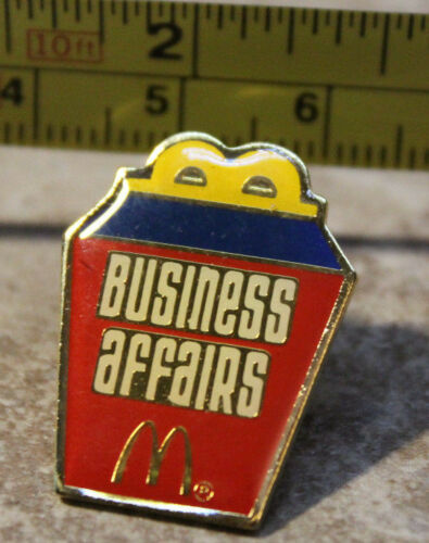 McDonalds Business Affairs Happy Meal Box Employee Collectible Pin Button