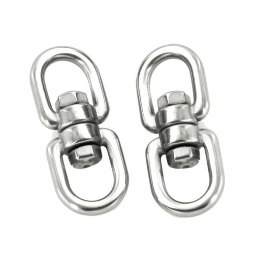 2pcs 360 Degree Rotate Stainless Steel Buckle Climbing Hiking Carabiner Tool