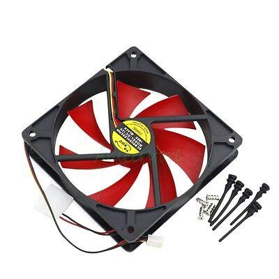 120mm x 25mm 4pin/3pin PC Case Cooler Cooling Fan w/ Shock Absorption Screws
