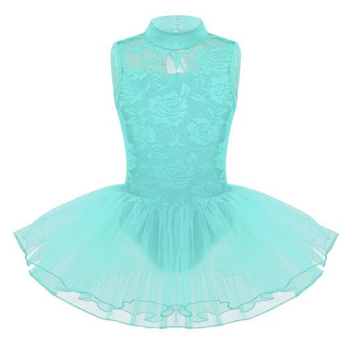 Child Girls Mermaid Ballet Dress Dance Tutu Leotards Gymnastics Glitter Costume