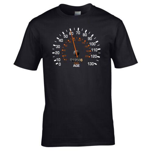 Feels Age Year Present Mens Gift Speedometer 1958 Birthday T-Shirt