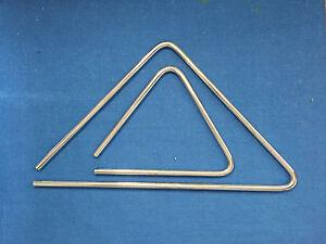 """Set Of 5"""" 9"""" Brazilian Handmade Aluminum Triangle Hand Percussion Samba Pagode 5y2v6wzj-07180919-190614326"""