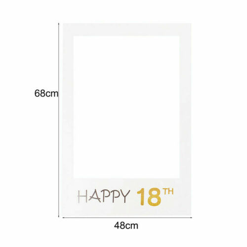 16//18//30//40//50th 21st Frame Photo Booth Props Paper Happy Birthday Party Banner
