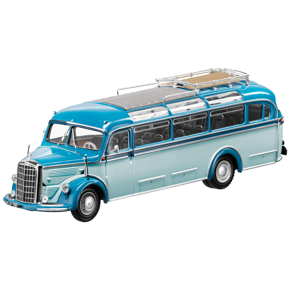 Mercedes - benz o 3500 voiture ancienne bus 1949 blwu 1 43 neuf minichamps scell é