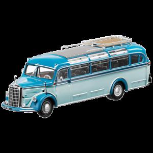 Mercedes Benz o 3500 Oldtimer Bus 1949 bluee 1 43 New Minichamps Ob