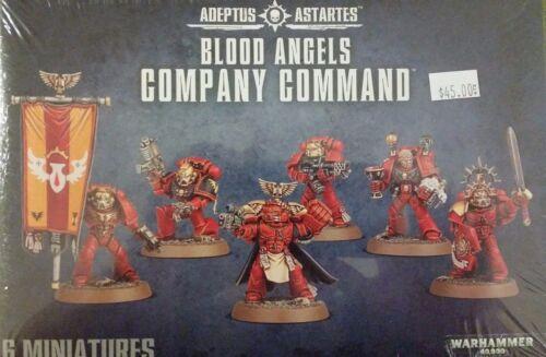 Warhammer 40K Adeptus Astartes BLOOD ANGELS COMPANY COMMAND Squad New