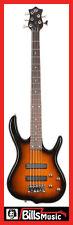 KSD Ken Smith Design Burner Standard 5 5-String Electric Bass - Vintage Sunburst