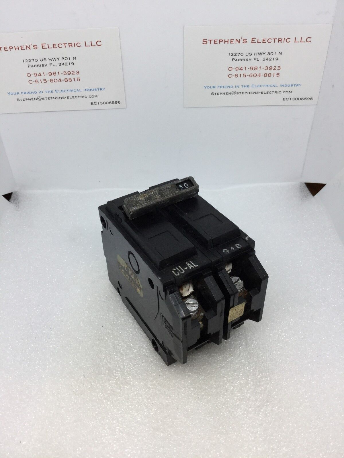 General Electric Ge Thql2150 Q Line Circuit Breaker 2 Double Pole Industrial Thql1120afp2 Arc Fault At 50 Amp Ebay