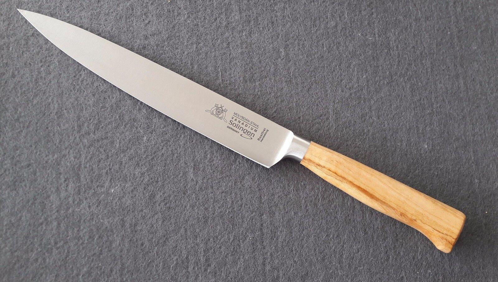 Fuchs solingen jambon couteau 21 cm lame forgée sans rouille Olivenholz 9503