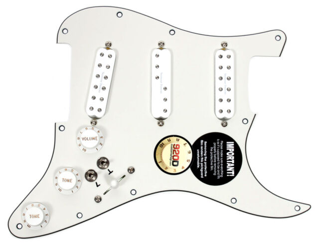Duncan SJBJ / SDBR / SL59 Loaded Pickguard Everything Axe W/ 2 Toggles PA/WH