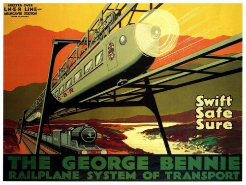 George Bennie Old Travel Poster reproduction