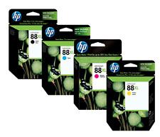HP Genuine 88XL Black Cyan, Magenta, Yellow Set of 4 Ink Cartridges