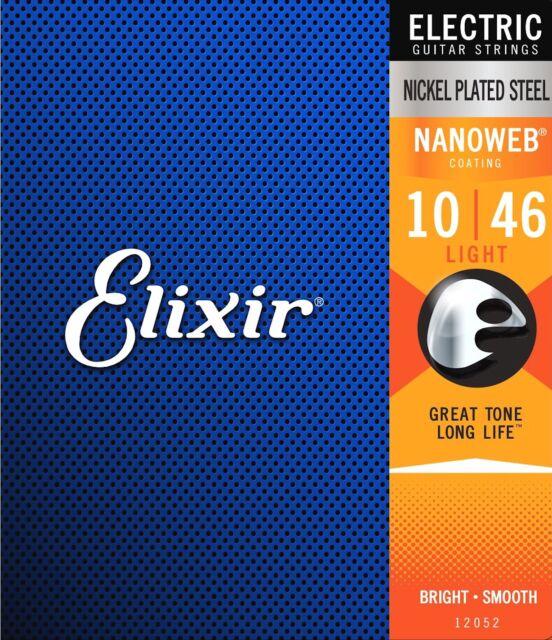 Muta 6 Corde Chitarra Elettrica 10 46 Light Nickel Plated Nanoweb Elixir 12052