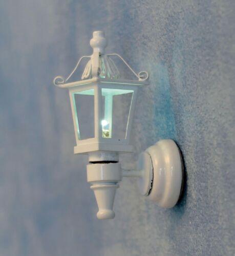 Casa De Muñecas Escala 1//12th Linterna con Cable blanco 3 Lámpara de Calle Negro LT3023