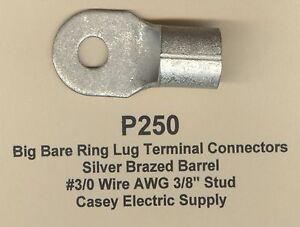 5-Bare-Ring-Lug-Brazed-Barrel-Terminal-Connector-3-0-Wire-AWG-3-8-Stud-MOLEX