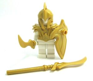 Custom-ELF-WARRIOR-Armor-Weapons-Pack-Gold-for-LEGO-Minifigures-LOTR-Castle