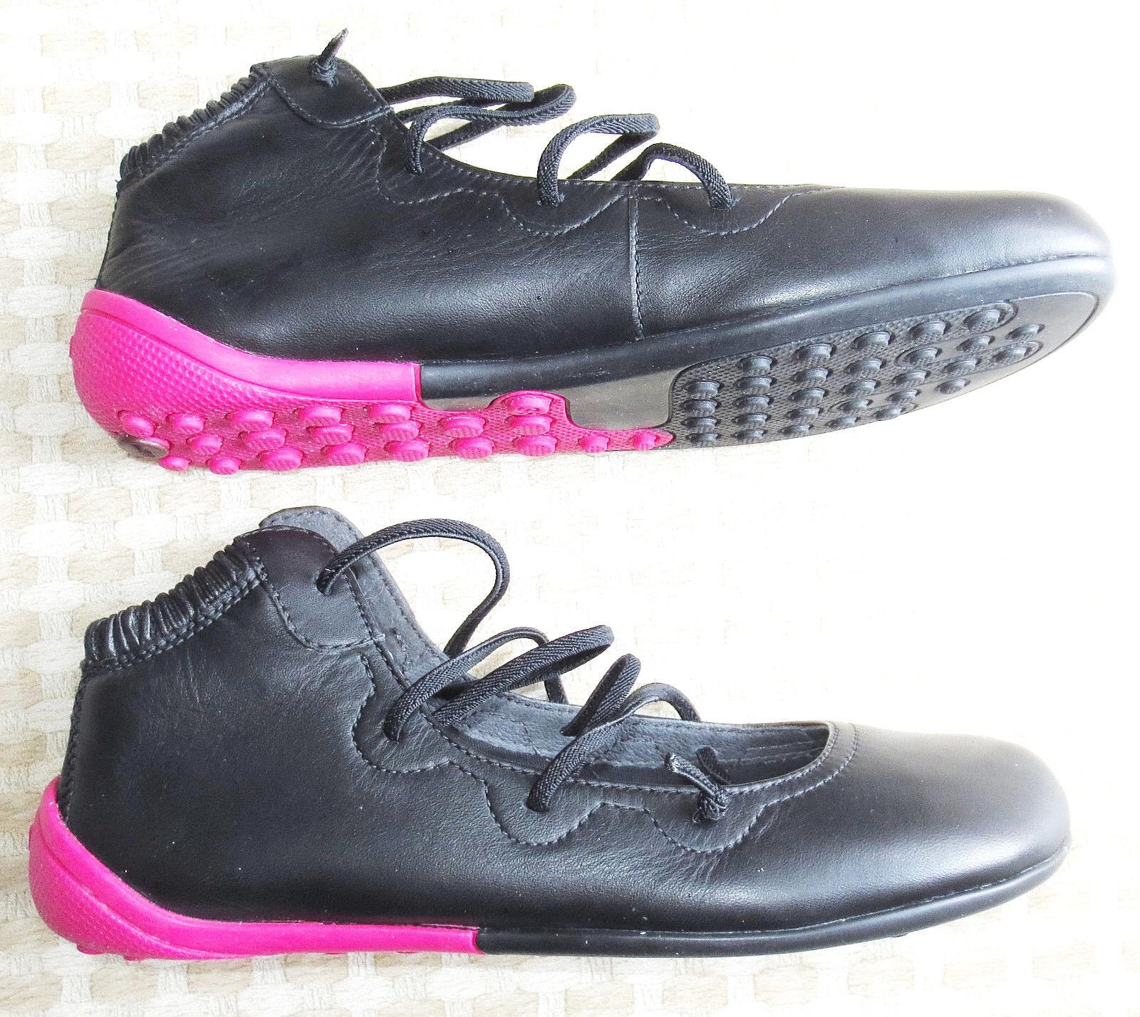 CAMPER Right Nina BLACK LEATHER Ballet FLATS Mary Jane Slip On shoes, Women Sz 6