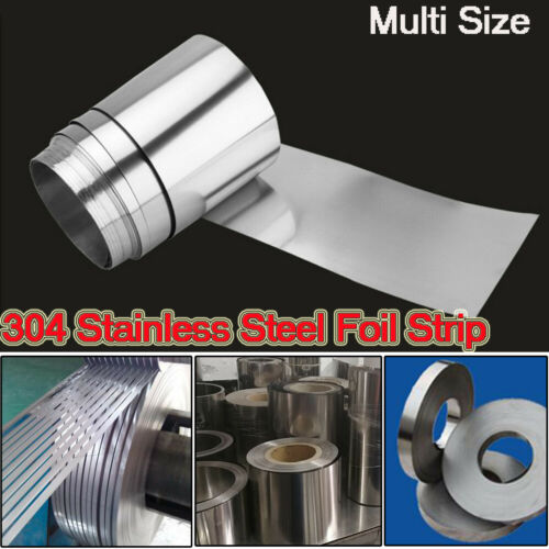 304 Stainless Steel Band Foil Sheet Metal Plate Strip Panel thick 0.005mm-0.4mm